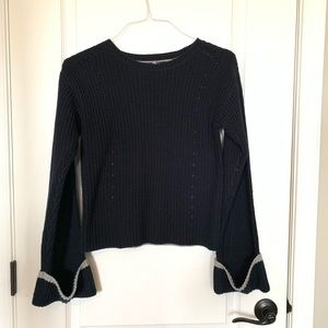 Navy/Grey color block sweater